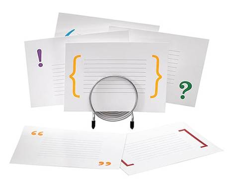 Punctuation cards