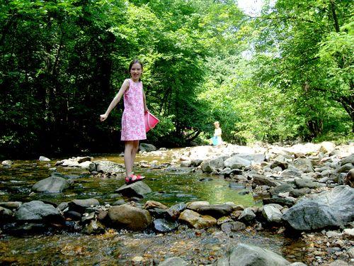 Helen + marty in creek