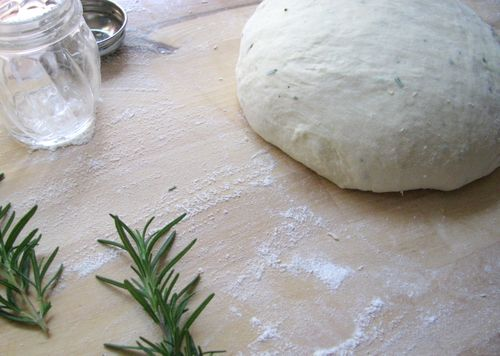 Rosemary bread dough
