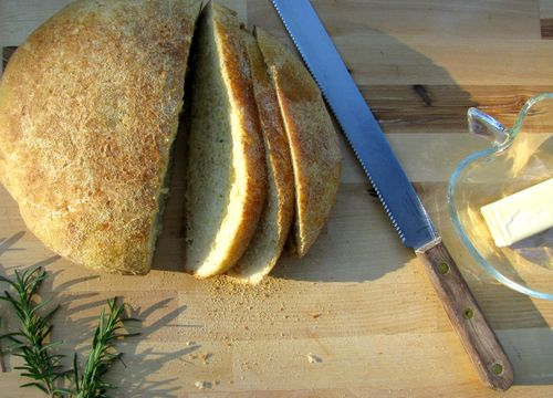 Crusty rosemary bread