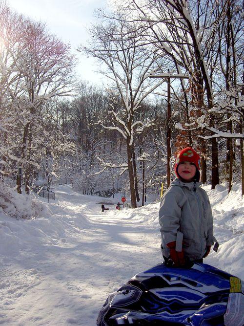 Heather ave sledding