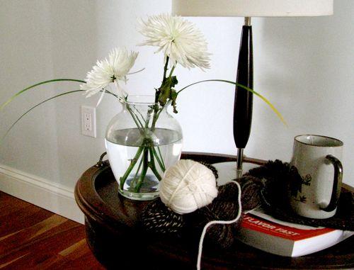 Vase yarn etc