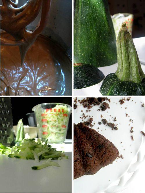 Chocolate zucchini cake mosaic