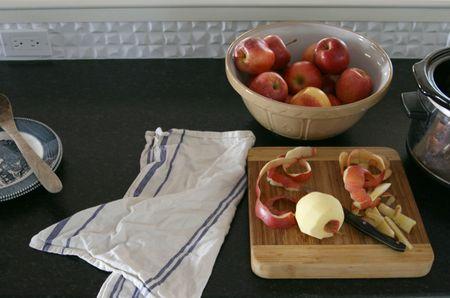 Apple butter making