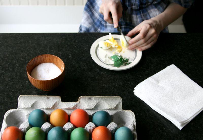 Helen eats an egg