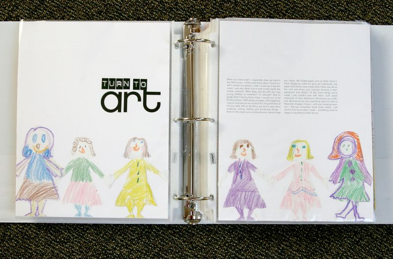 Turn to art in binder