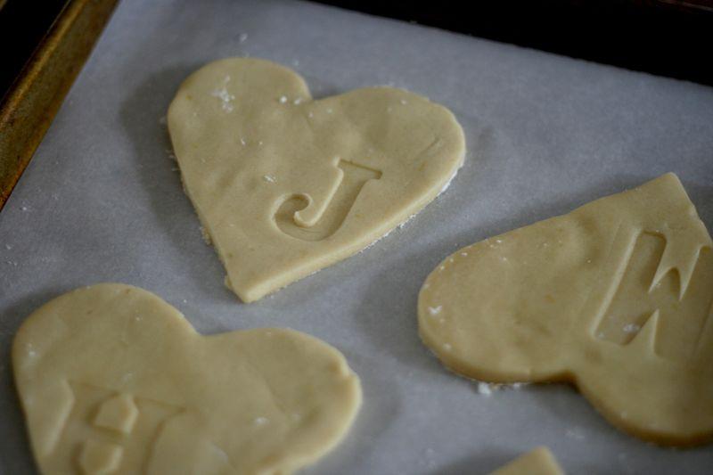 Letterpressed cookies