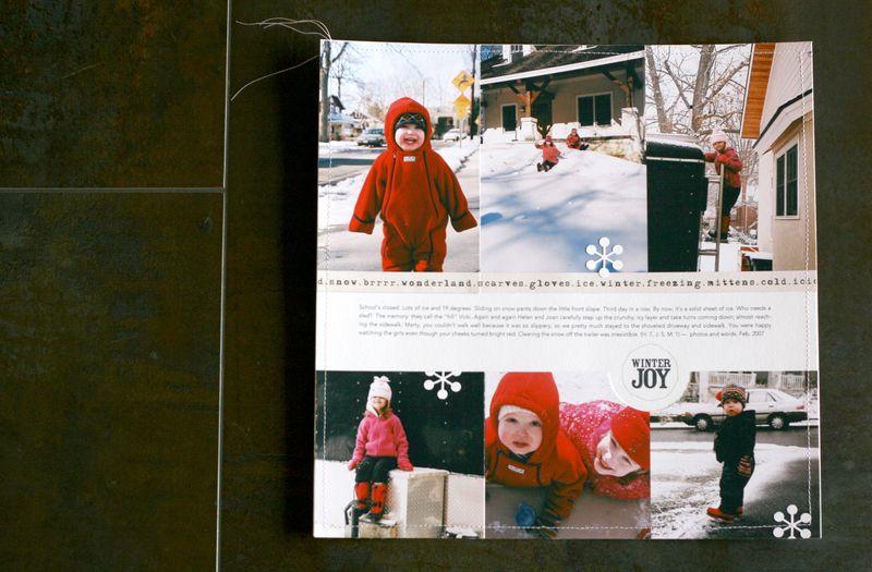 Winter joy layout