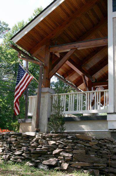 Exterior front porch