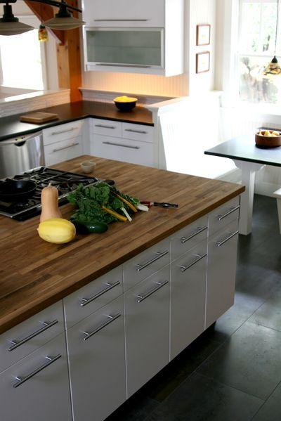 Kitchen island counter vert