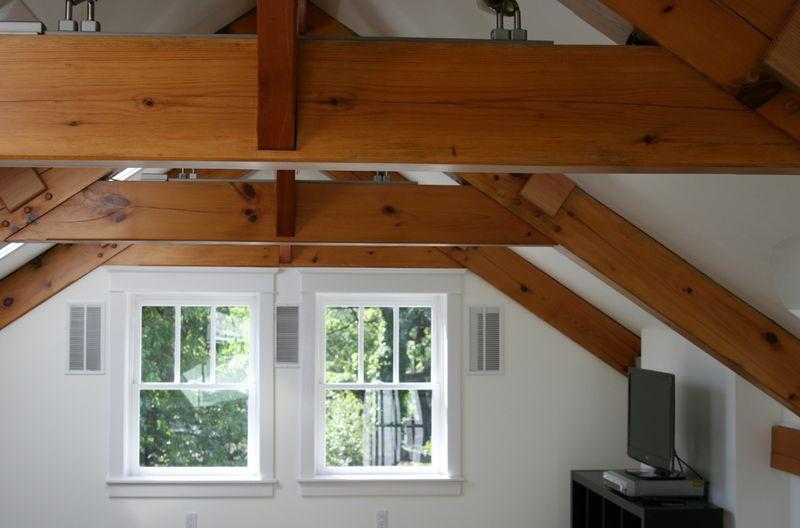 3rd floor ceiling facing tv