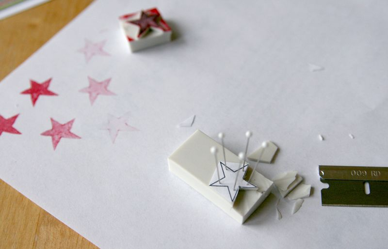 Dec 7 eraser stamps