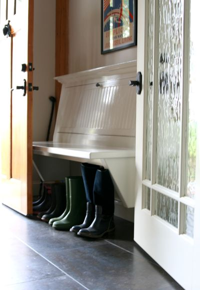 Mud room bench