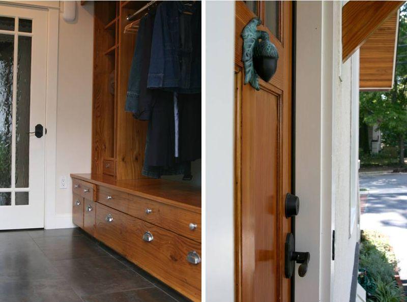 Acorn door view inside