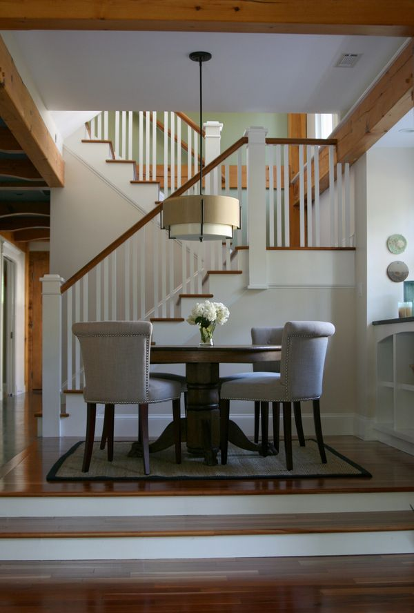 living room stairs molly irwin house tour kitchen amp dining 11096