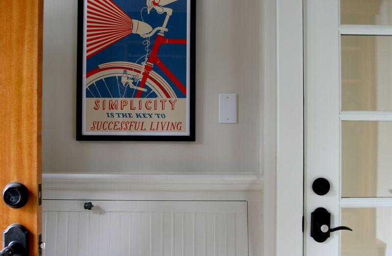 Poster between the doors