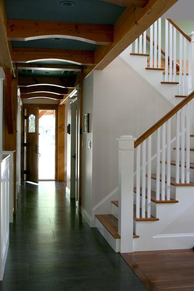 Hallway facing door