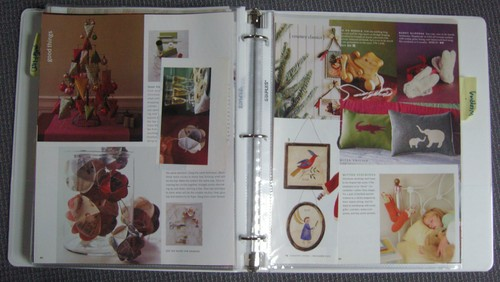 Christmas inspiration binder